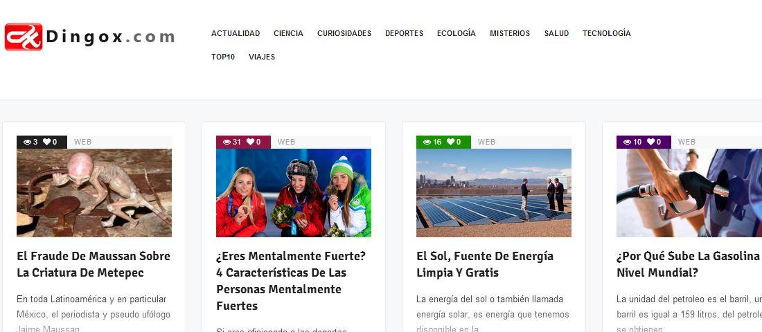 Dingox: web de artículosinteresantes